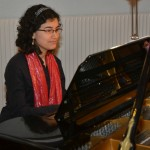 Ana Maria Ospina provides perfect piano accompaniment
