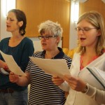 The altos sing their part